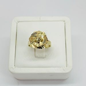 Real 10k Solid Gold Spin Ring Size 7